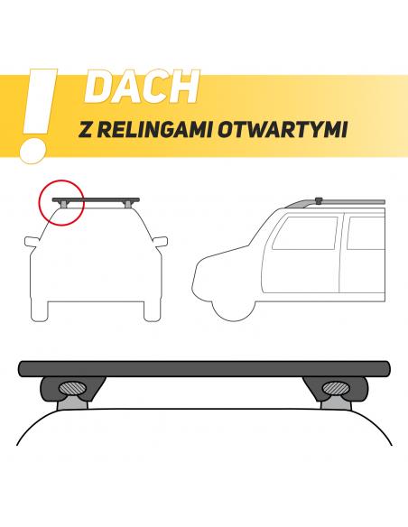 Bagażnik rowerowy na dach MENABO BIKE PRO